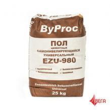 БиПрок пол цементный самонивелирующийся универсальный ByProc-EZU980 25кг
